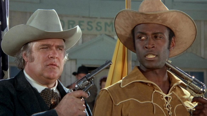 Such a shame that all the best gags have already been thought up and used before. In this case, by Mel Brooks in the 1974 movie 'Blazing Saddles'