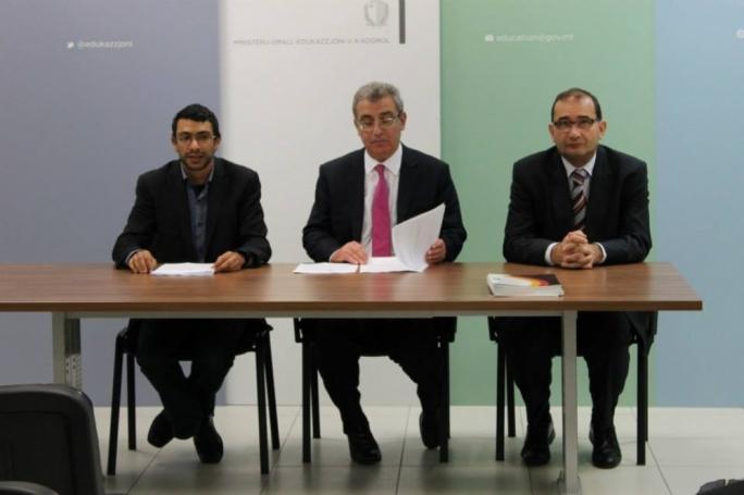 From left: Mark Camilleri, Evarist Bartolo and Joseph Caruana