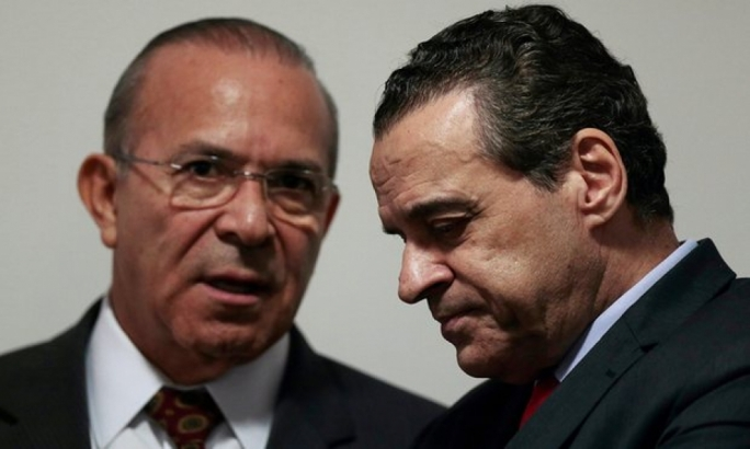 Brazil's former tourism minister Henrique Alves (right) was one of 20 politicians named in plea bargain testimony by a former Petrobras executive in relation to country's biggest corruption scandal