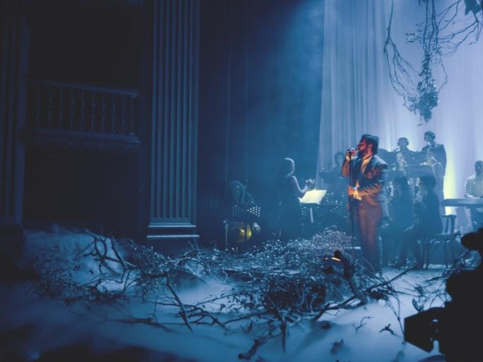 Brikkuni debuting songs from Rub Al Khali during a concert at the Manoel Theatre in October 2015 (Photo: Chris Vella)