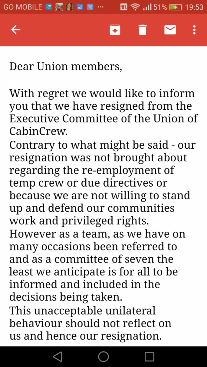 The committee members quit over what they called 'unacceptable unilateral behaviour'