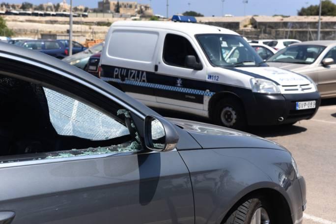 Several cars were vandalised