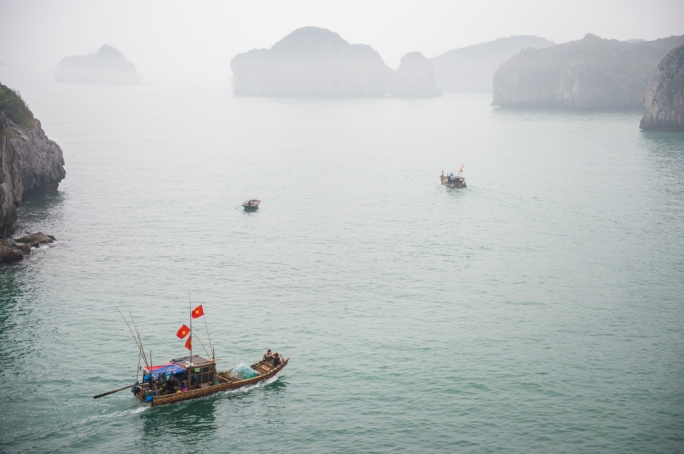 Cat Ba island itself is made up mostly of a national park, three villages, and two fishing villages and one of which is completely on the water