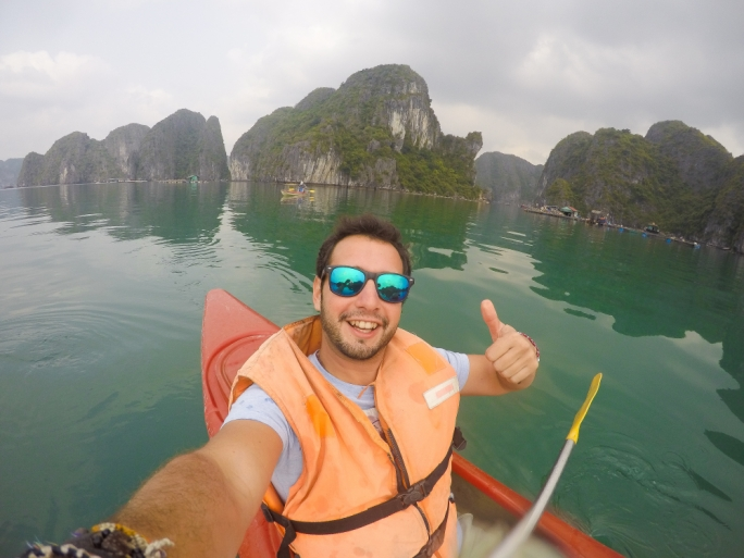 If you are on a budget, don't worry, just get yourself a fishing boat, haggle for a better price and head out for the day around Halong Bay