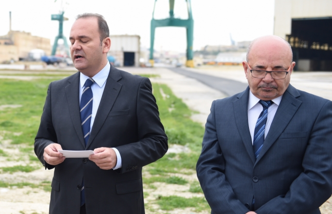Minister of the economy Chris Cardona and chief of staff Mario Azzopardi