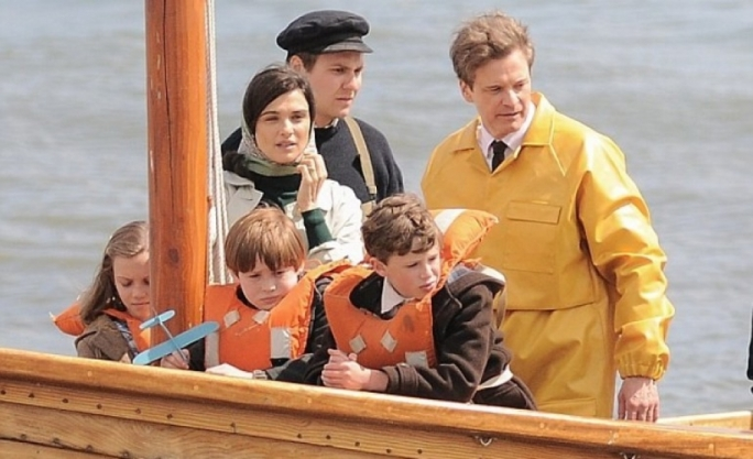 Set pictures surface of new James Marsh film with Colin Firth and Rachel Weisz (Photo taken in Devon and published by the Daily Mail)