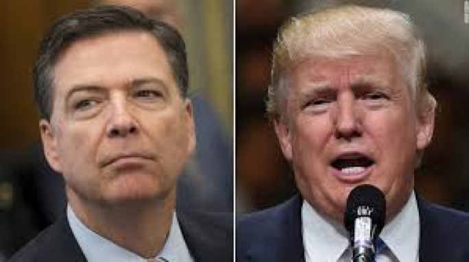 Trump says he didn't tape his conversations with Comey