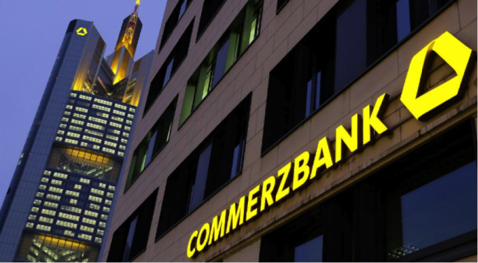 Commerzbank was the day's leader as it surged by more than 2.5%