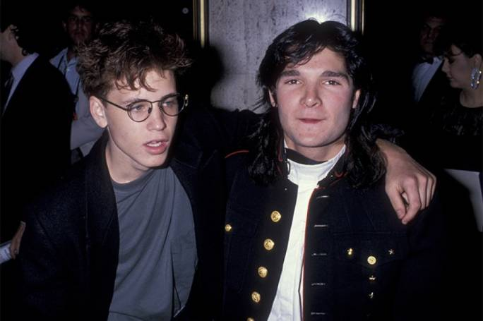 Corey Haim (left) and Corey Feldman