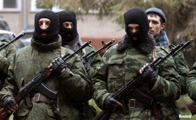 Ukraine's government troops have taken over a rebel stronghold in eastern Ukraine, killing five terrorists during operations.