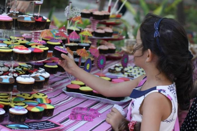 Visitors can enjoy cupcakes and other homemade foods at the Patches Fair.