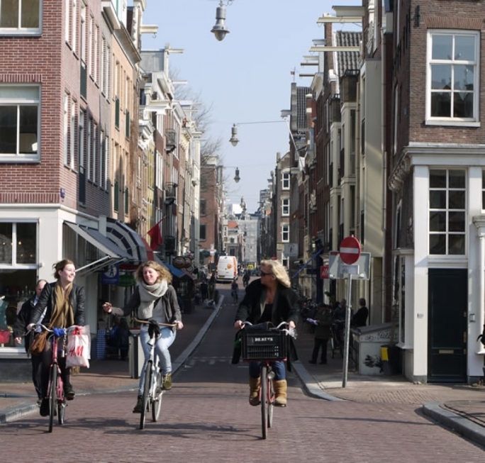 Amsterdam is best seen on a bicycle