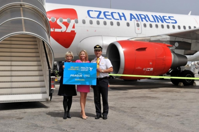 First Czech Airlines flight touches down in Malta