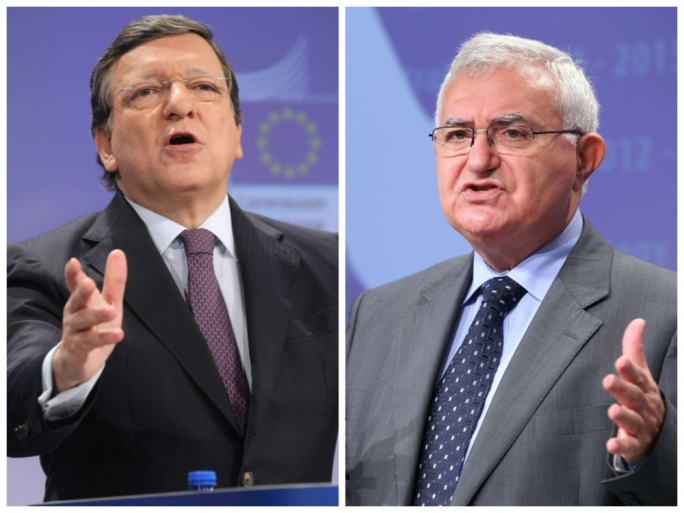 European Commission President Jose Manuel Barroso (L) will appear at the European Court of Justice today.