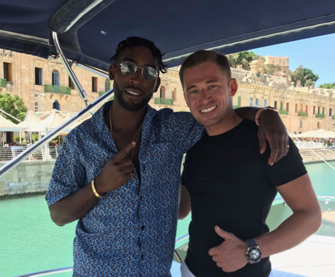 English singer and songwriter Tinie Tempah and Daniel Ashforth