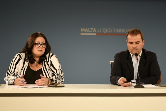 Parliamentary secretary for planning Deborah Schembri and PL MP Franco Mercieca