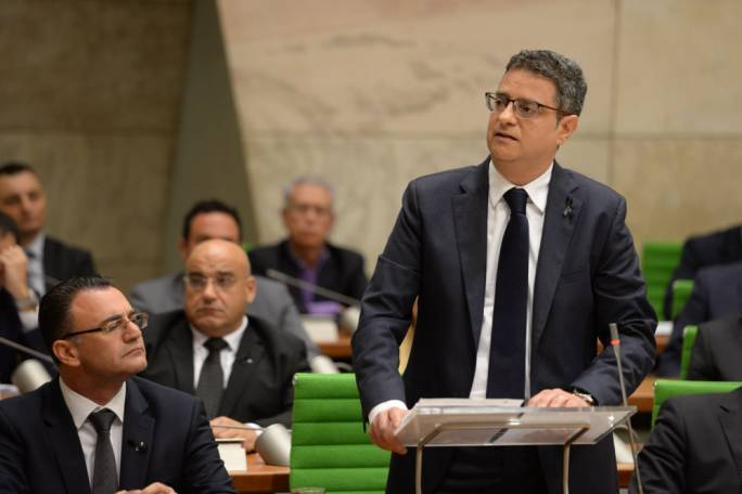 For most of his speech, Delia focused on the murder of Daphne Caruana Galizia. Photo: James Bianchi/MediaToday