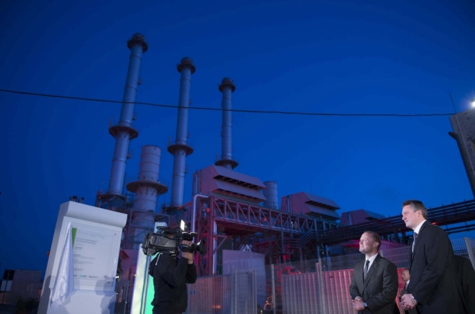 Joseph Muscat and Konrad Mizzi at the new LNG power station