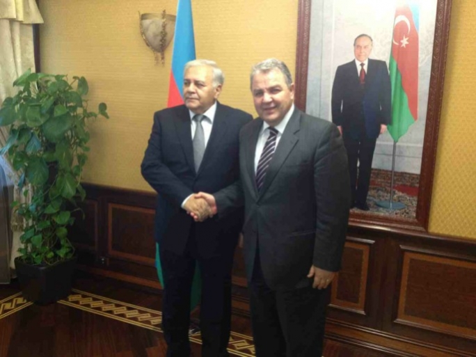 Speaker Anglu Farrugia (right) with his Azeri counterpart, Ogtay Asadov.