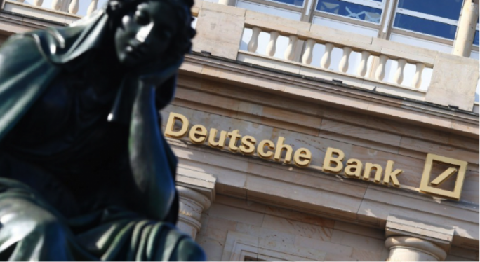 Deutsche Bank posted first quarter results that have seen it fall behind its competitors