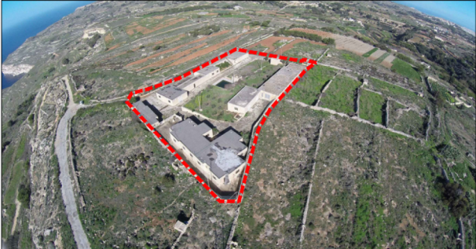 Scenic: the site for the proposed hotel in Dingli