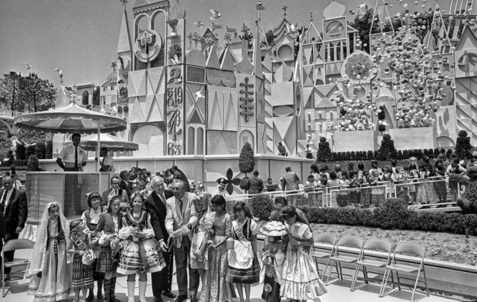 Walt Disney opening 'it's a small world' in the US