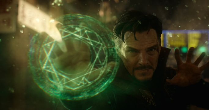 A Study in Emerald: Benedict Cumberbatch (BBC's Sherlock) takes an interdimensional route on the Marvel Studios bandwagon to embody its trademark sorcerer, Doctor Stephen Strange