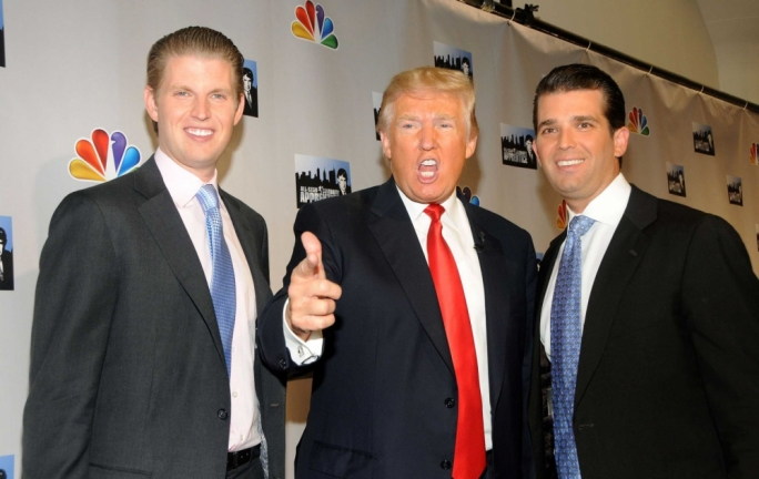 Donald Trump's sons Eric (left) and Don Jr will be taking over control of the family business