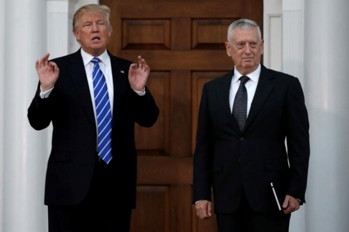 US President Donald Trump and Secretary of Defense James Mattis