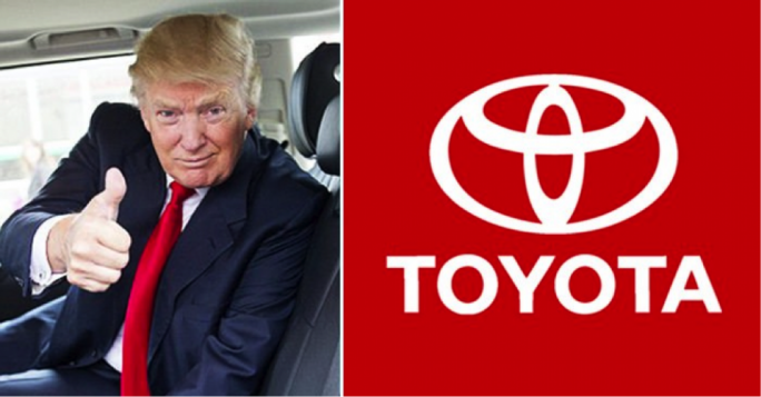 US President Donald Trump praised Toyota for its plans to invest in its plant in Georgetown, Kentucky