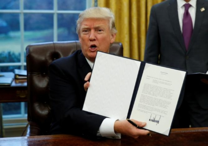 Donald Trump came through on a campaign pledge, pulling the US out of the Trans-Pacific Partnership trade deal