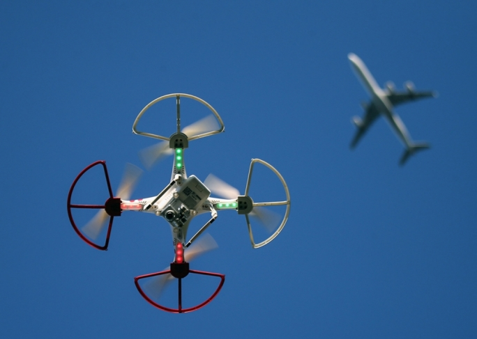 Drones cannot be flown over or around an airport unless permission has been granted beforehand