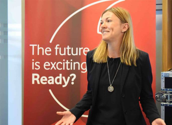 Vodafone Malta CEO Amanda Nelson announces the creation of a