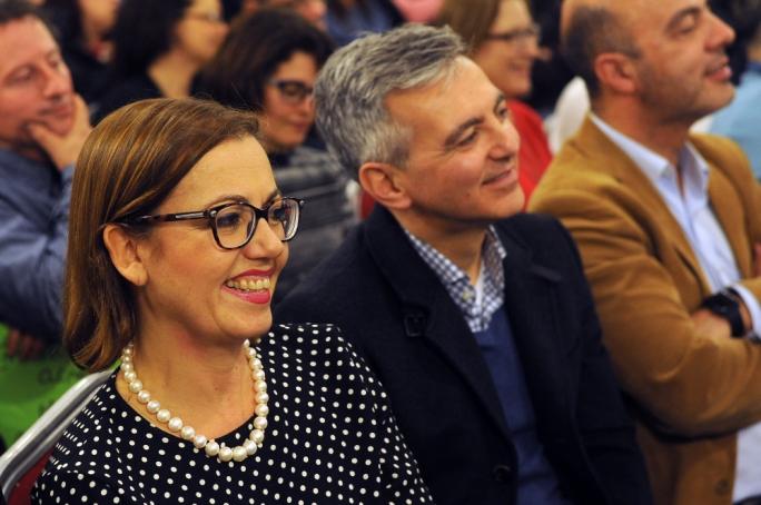 PN executive president Ann Fenech and opposition leader Simon Busuttil