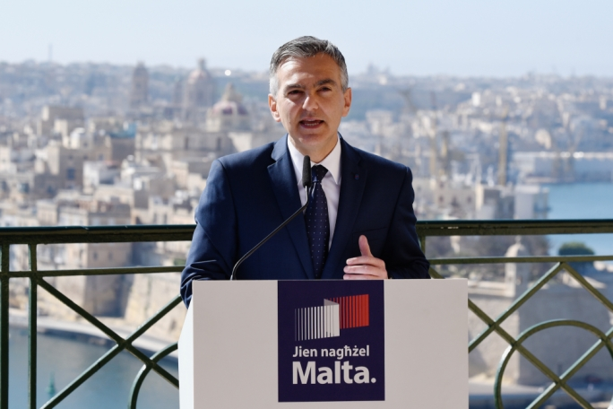Nationalist Party leader Simon Busuttil announces PN tax package (Photo: Chris Mangion/MediaToday)