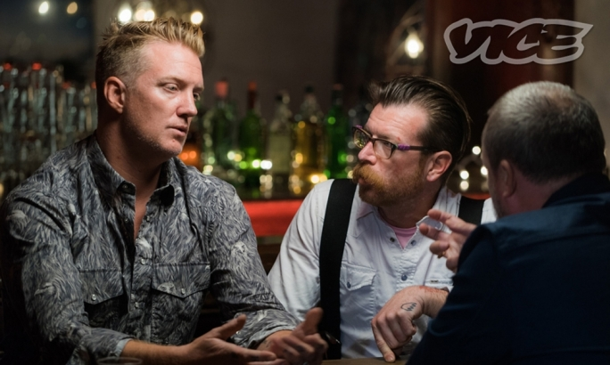 Eagles of Death Metal founders Josh Homme and Jesse Hughes