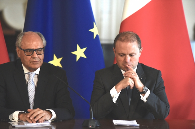 Of the three candidates only Scicluna (left) was asked to stand for the deputy leadership