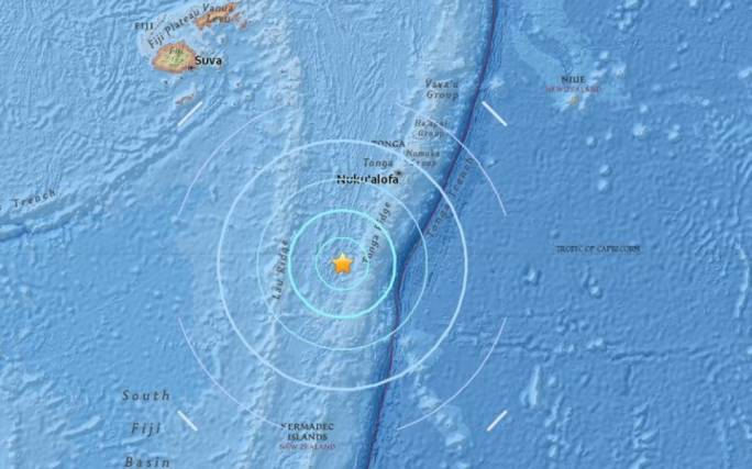 The USGS measured a 6.4 earthquake to the south of Fiji, and the southwest of Tonga, at 4:19pm Fiji Time on 26 September (Photo: USGS)