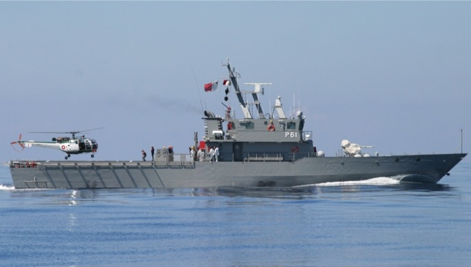 The AFM's 'Diciotti' class P-61 patrol boat. Photo: AFM