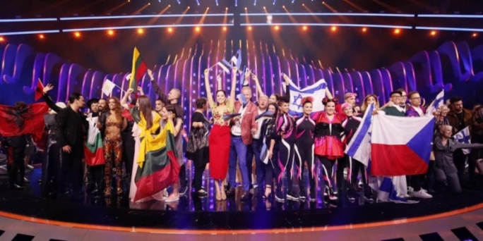 Eurovision Song Contest victor , Netta, performs 'Toy' during grand final