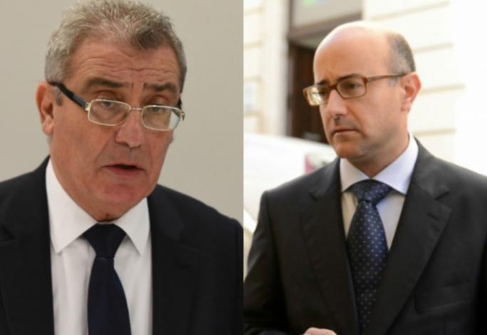 Education Minister Evarist Bartolo (left) and former PN lands minister Jason Azzopardi
