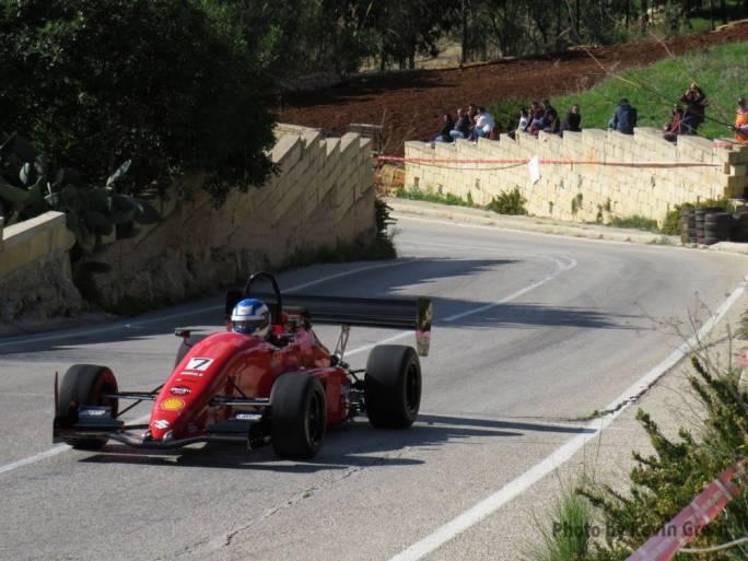 Fabio Baldacchino speeding towards the finish line