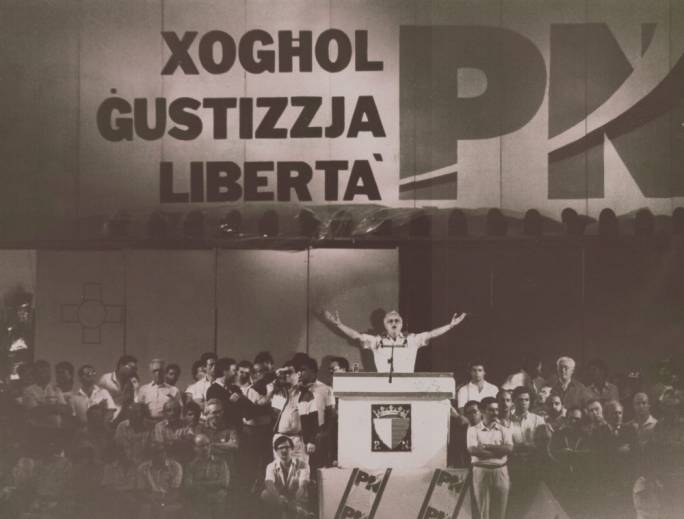 A throwback to the 80s - the PN is depicting the current situation as a repeat of the abuses of the Mintoffian regime