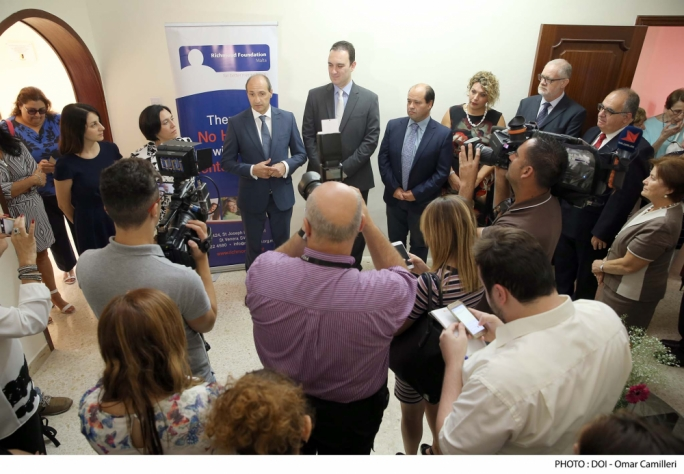 Health minister Chris Fearne opens a hostel for female mental health patients in Attard