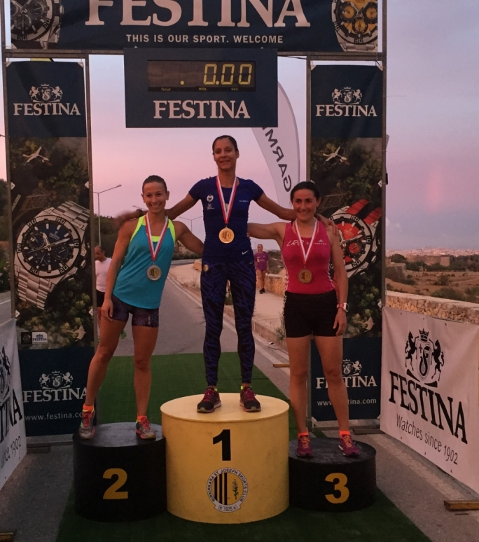(L to R)   Angele Satariano (2nd)  Lisa Bezzina (1st) Francesca Arrigo (3rd)