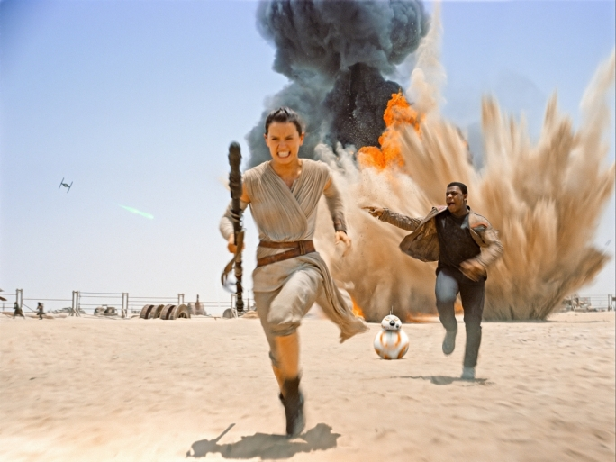 New kids on the (desert) block: Newcomers Daisy Ridley and John Boyega inject a fresh lease of life into the iconic franchise… with some help from the trusty BB-8