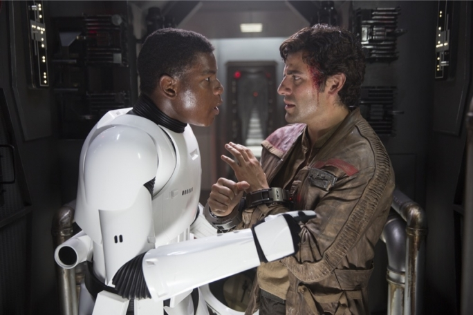 In a tight spot: Boyega and Oscar Isaac have charisma and humour to spare, humanizing the space adventure