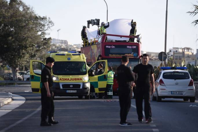 Three Britons injured in Malta bus crash