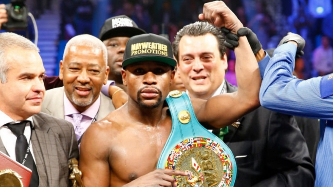 He's beat more world champions than any other fighter in a shorter time and less fights than any other fighter - Floyd Mayweather on Floyd Mayweather