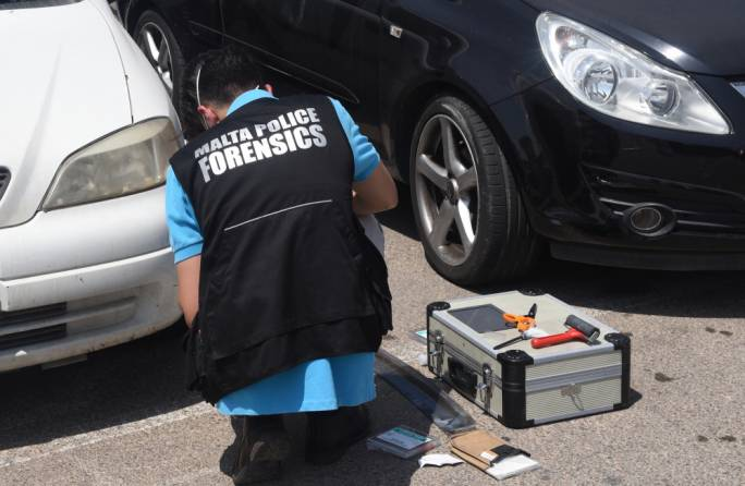 Forensic experts on site